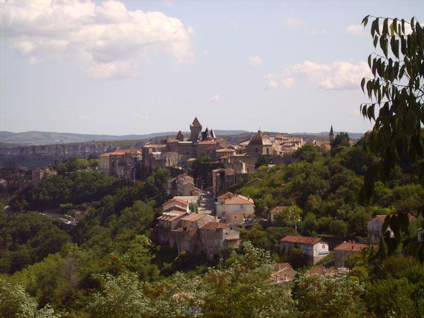 Aubenas vu de l'Ardèche
